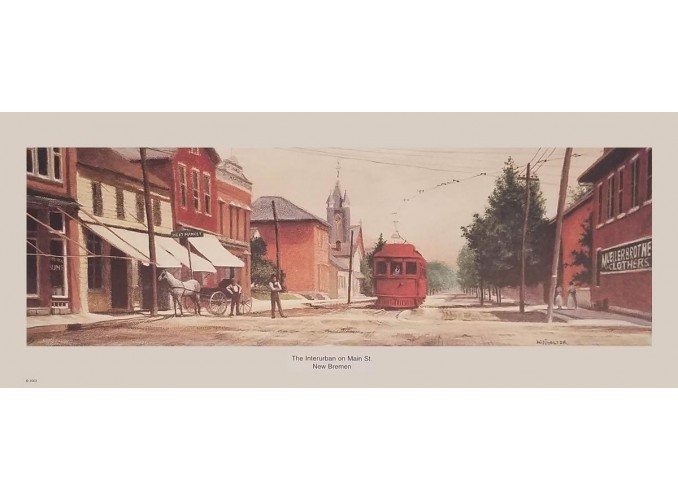 The Interurban on Main Street Print