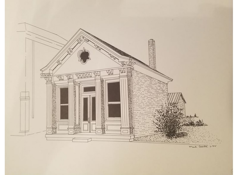Note Cards (8 Cards with 4 Historic New Bremen Buildings)