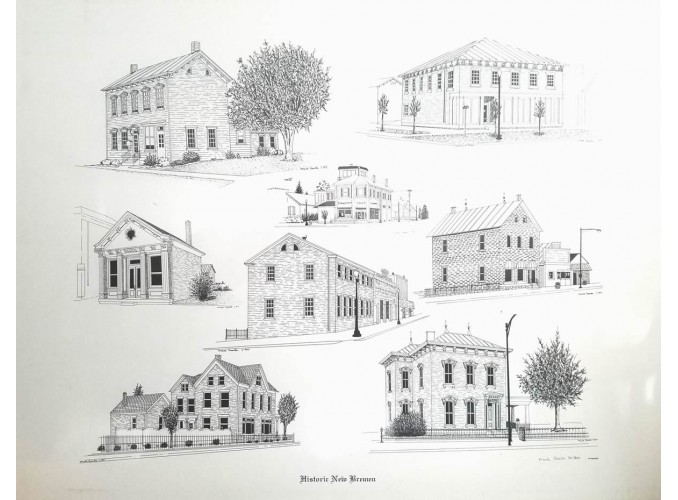 A Collage of Six Historic Buildings