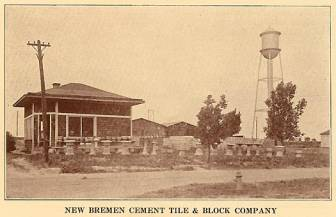 New Bremen Cement Tile & Block Company - 1933