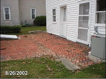 The old brick patio