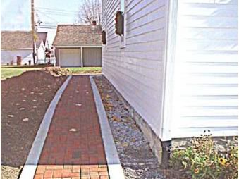 The new sidewalk