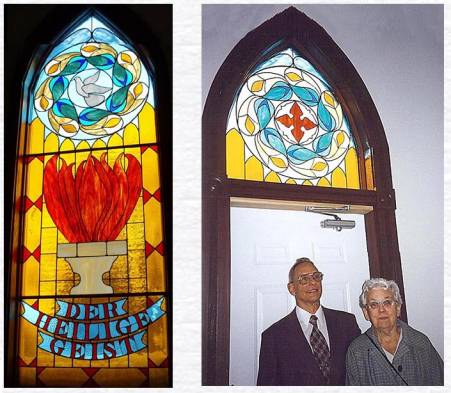 Holy Spirit Window created by Karl Mesloh