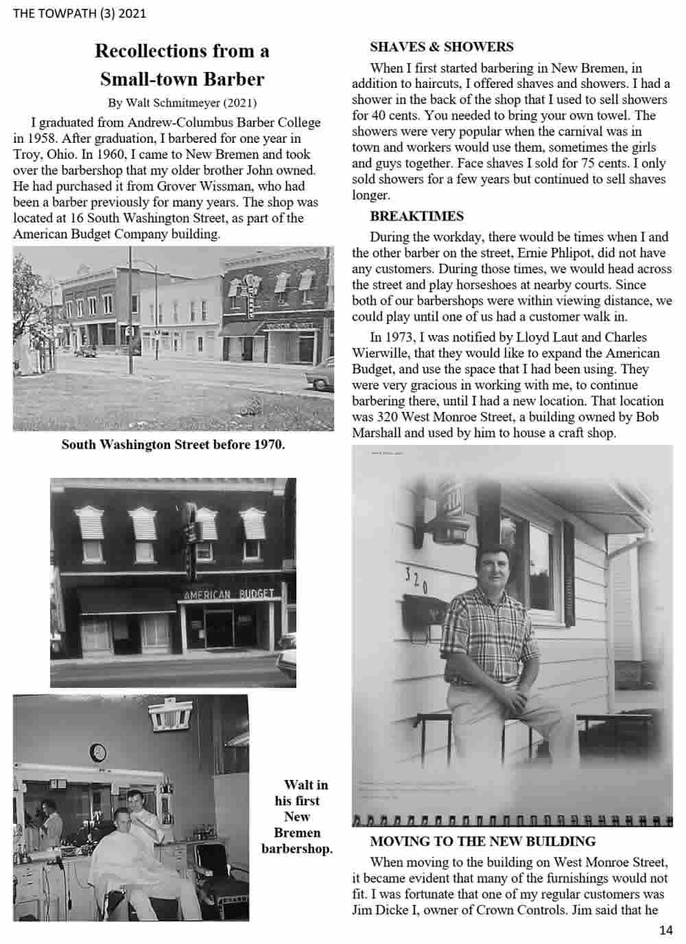 Recollections of a Small Town Barber