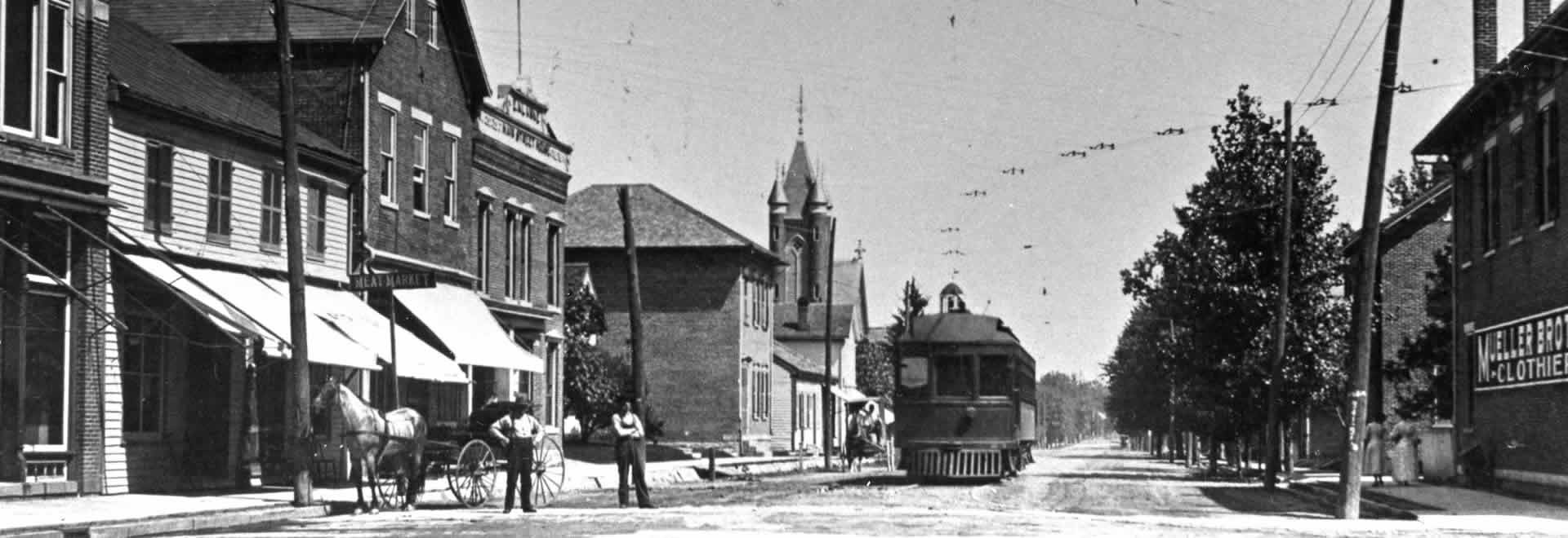 Main Street New Bremen Ohio - 1902