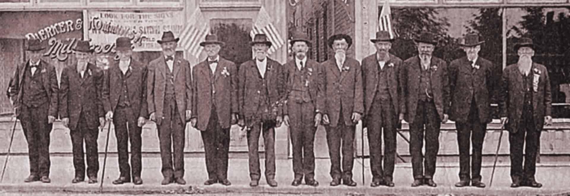 Civel War Veterans from New Bremen, Ohio.